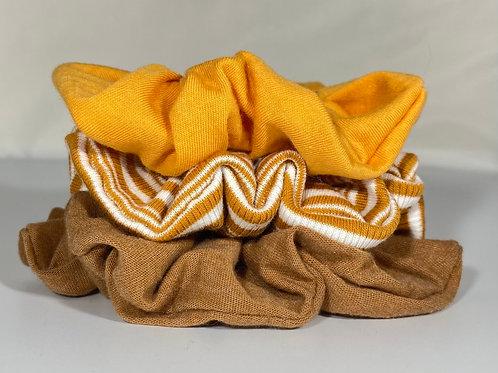 Brown Stripe Scrunchie Multipack