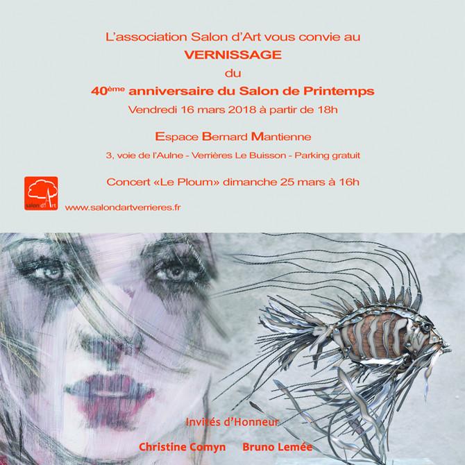 J'expose du 16 au 26 mars au 40ème salon de Verrières...