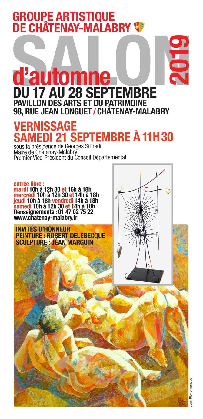 Je suis invité d'honneur au Salon d'automne de Châtenay-Malabry