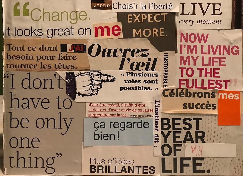 Vision Board bilingue de Linda Sauvé