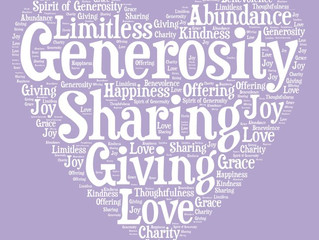 Generosity-Good for your Heart and Soul