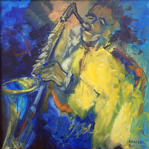 Sax (on Canvas)