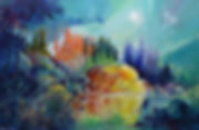 Painting senery, ethereal landscape, transformation