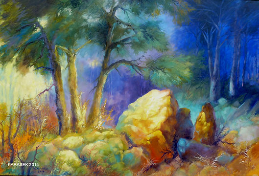 The Rock, Paul, Jesus, Christ, landscape art