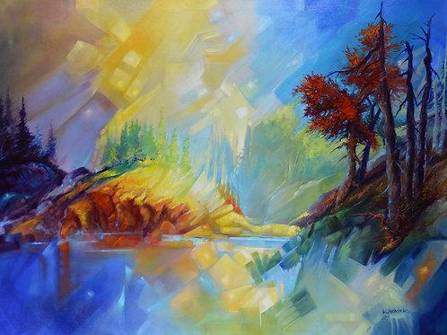 Island of Light (on Canvas)