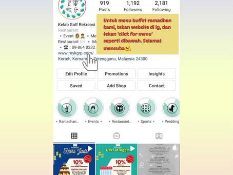 Dapatkan menu buffet ramadhan di website kami🤗 Ikuti tutorial dibawah. Selamat mencuba🥰