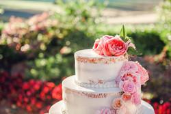California Wine Country Wedding Flowers Cake