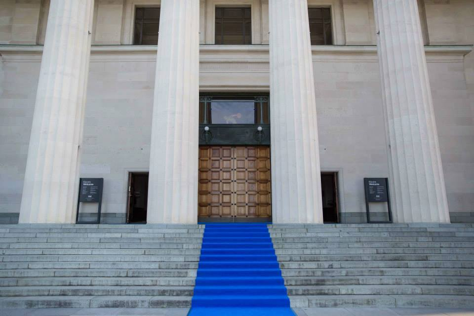 AMP's blue carpet at AKL Museum