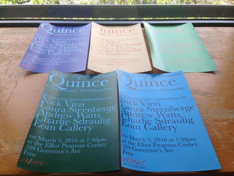 Quince Contemporary Vocal Ensemble (2016)