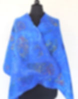 Elegant silk and wool wrap Hand felted Nuno felted Boho Lagenlook