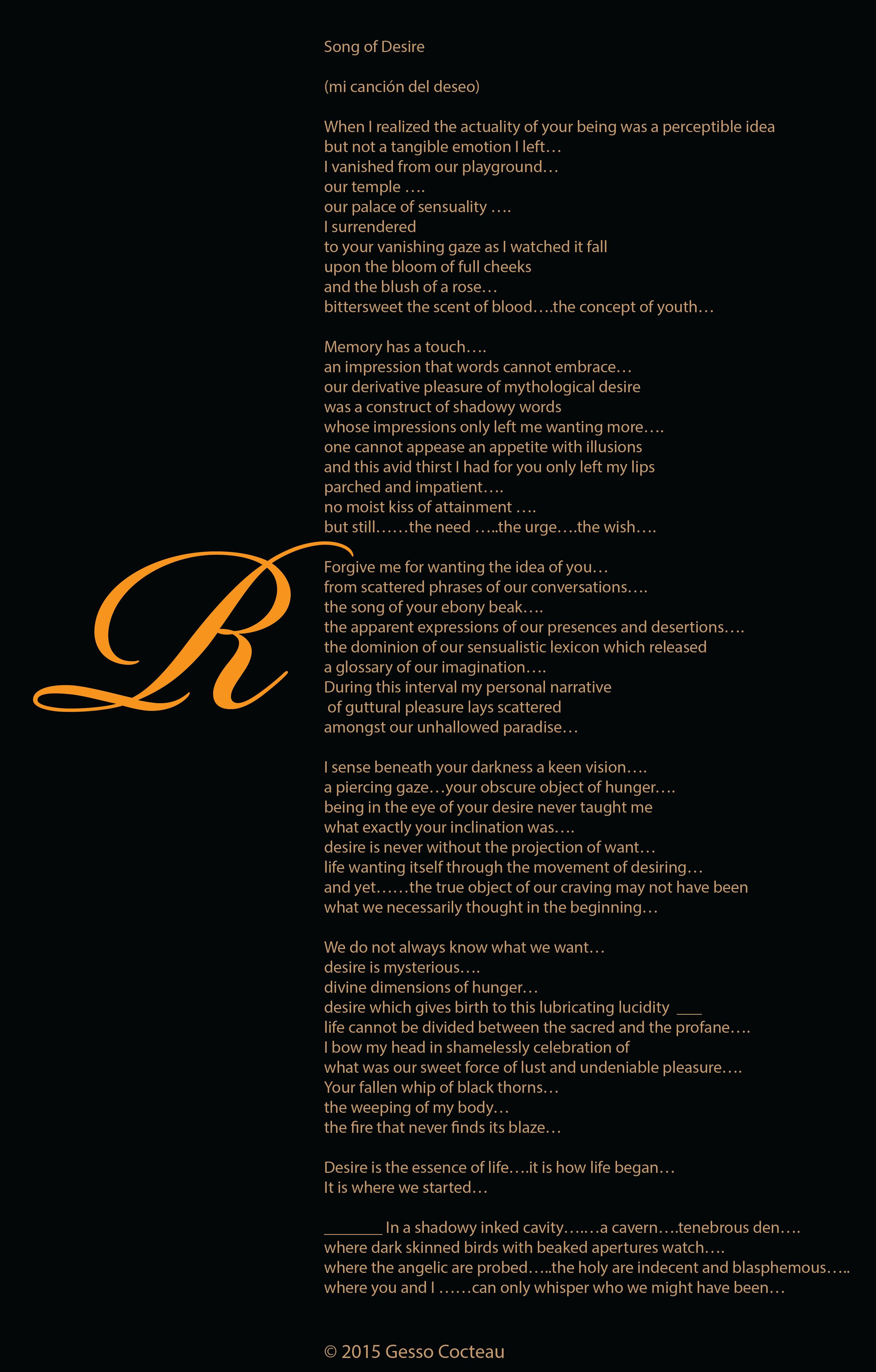 Song of Desire | gessococteau