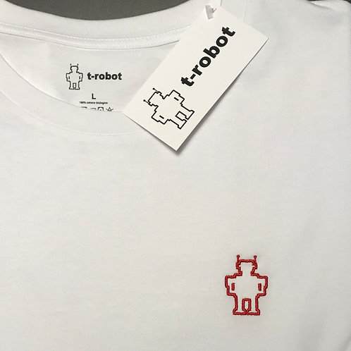 T-ROBOT RICAMO ROSSO