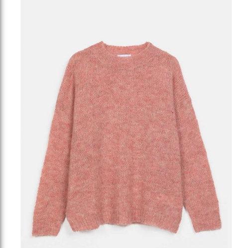 Maglione ampio rosa / beige