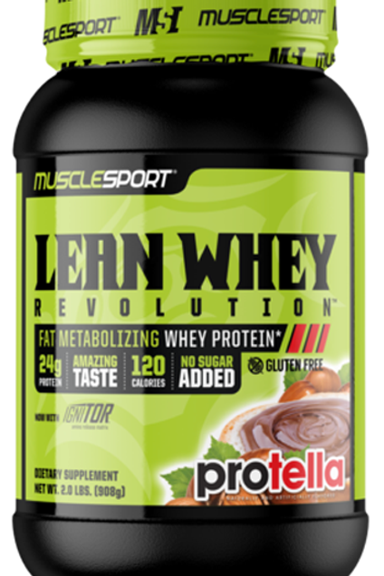 muscle sport lean whey(various flavours )