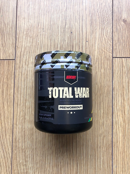 Redcon1 total war pre workout (pineapple juice)