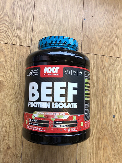 Nxt nutritions beef isolate ( strawberry & lime)