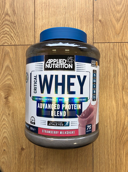 Applied nutritions critical whey (strawberry milkshake )