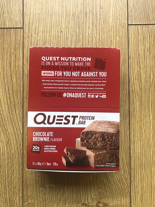 Quest protein bar (chocolate brownie)