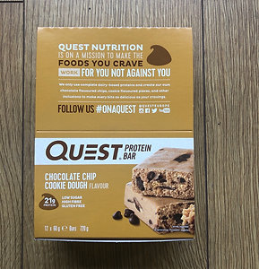 Quest protein bar (choc chip cookie dough)