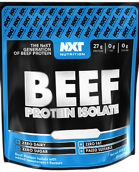 Nxt nutritions BEEF protein 600g  (various flavours )
