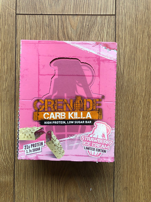 Grenade protein bar (strawberry ice cream)