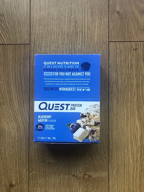 Quest protein bar (blueberry muffin )