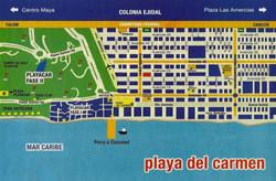 map Playa del Carmen