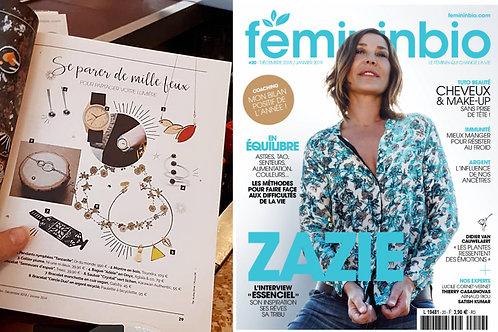Collier Plume est dans le magazine FEMININ BIO décembre 2018