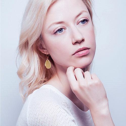 Boucles d'oreilles en cuir MÉDUSE Gold