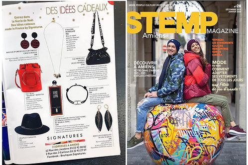 Boucles d'oreilles POP sont dans Magazine STEMPS novembre2019