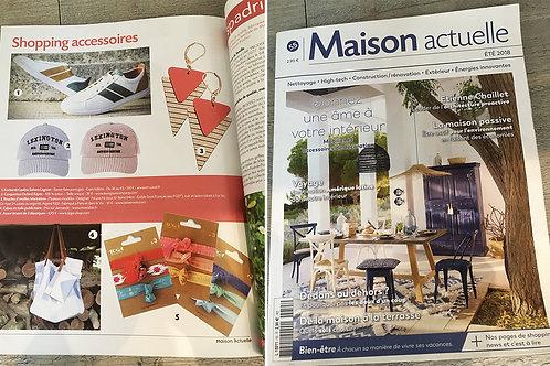 Les d'oreilles Marinière sont dans le Magazine MAISON ACTUELLE été 2018