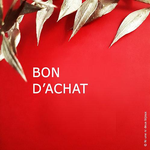 BON D'ACHAT