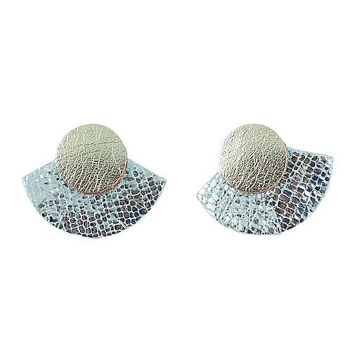 Puces d'oreilles en cuir SOLAIRE Cristal