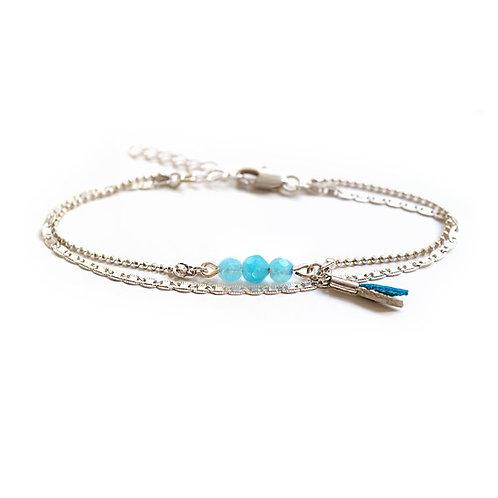 Bracelet Bohème PIERRES FINES Turquoise