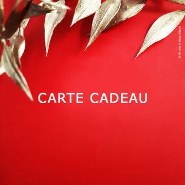 CARTE CADEAU 20€/30/50/80/100