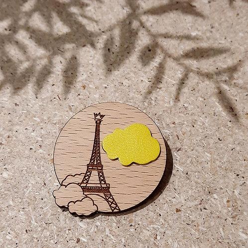 Paris sous les nuages JAUNE / Broche