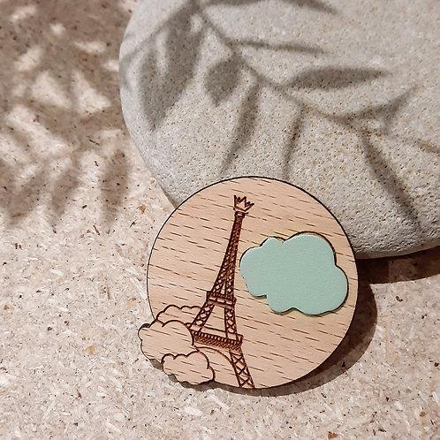 Paris sous les nuages MENTHE / Broche