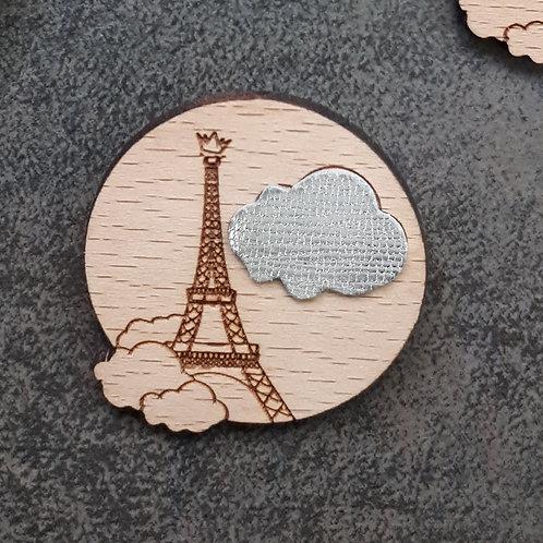 Paris sous les nuages BLANC / Broche
