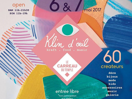 Ni une ni deux Rdv ce week-end à Carreau du Temple & Klin d'Oeil !