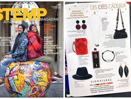 Nos boucles Pop sont dans le magazine STEMP spéciale fêtes de fin d'année !