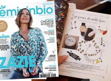 Notre collier Plume est dans le magazine Féminin Bio !
