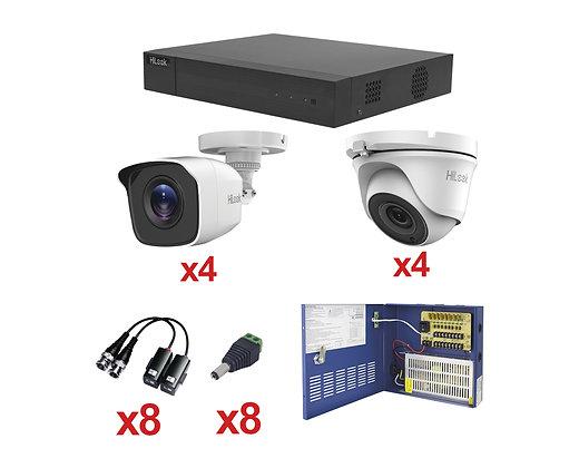 Kit de Videovigilancia basico analógico marca HIKVISION mod. KH720P4BW/4