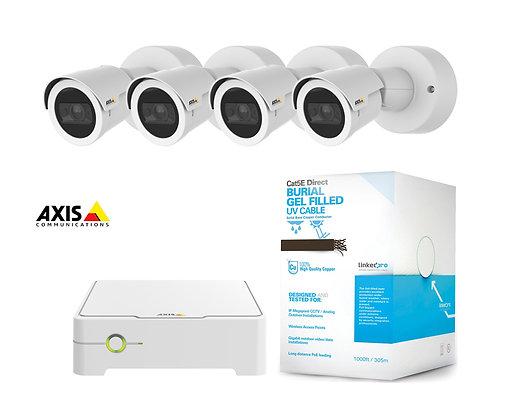 Sistema de videovigilancia IP para exteriores marca AXIS