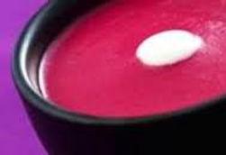 Velouté froid de betterave au yaourt