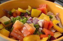 Salade d'oignons et poivrons