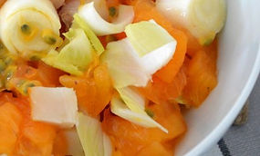 Salade d'endives exotique à la mangue / coco