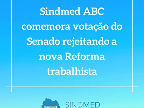 Sindmed ABC comemora votação do Senado