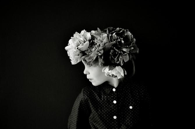 Black and White Paeonia