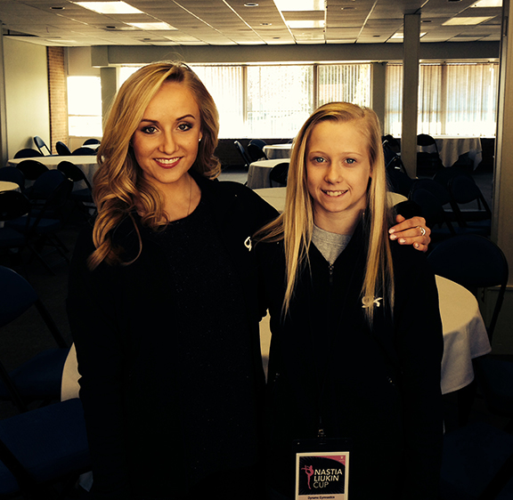 Nastia and Kelsey