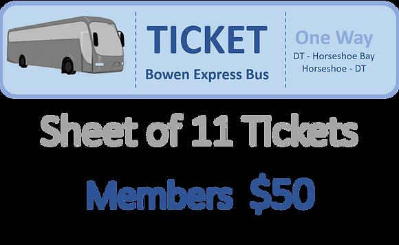 Member Tickets Bowen Express Bus